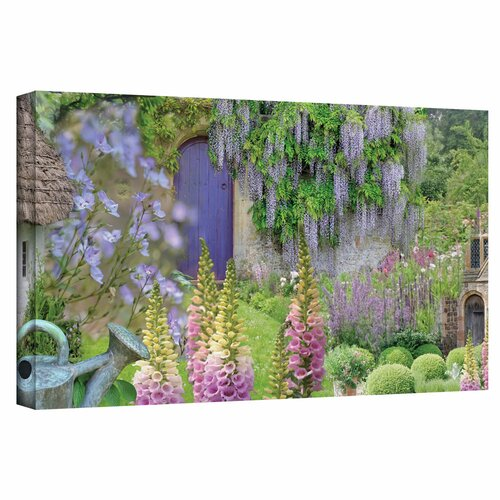 'Cottage Garden' by Cora Niele Gallery Wrapped on Canvas