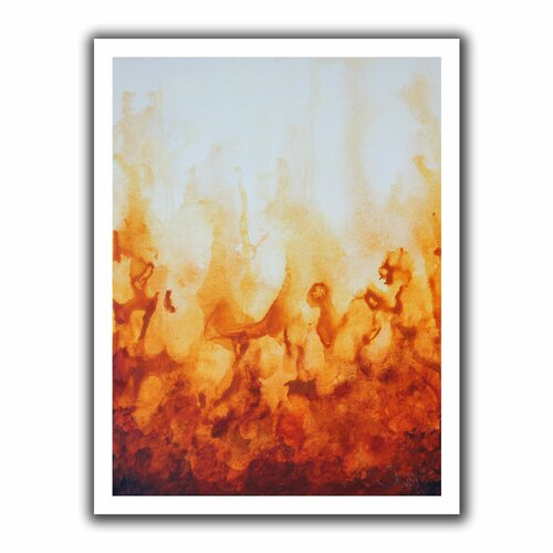 'Amber Flame' by Shiela Gosselin Canvas Poster