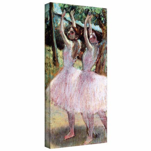 'Dancers in Violet Dresses, Arms Raised' by Edgar Degas Gallery-Wrapped on Canvas