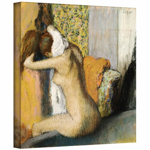 'After the Bath, Woman Drying her Neck' by Edgar Degas Gallery-Wrapped on Canvas