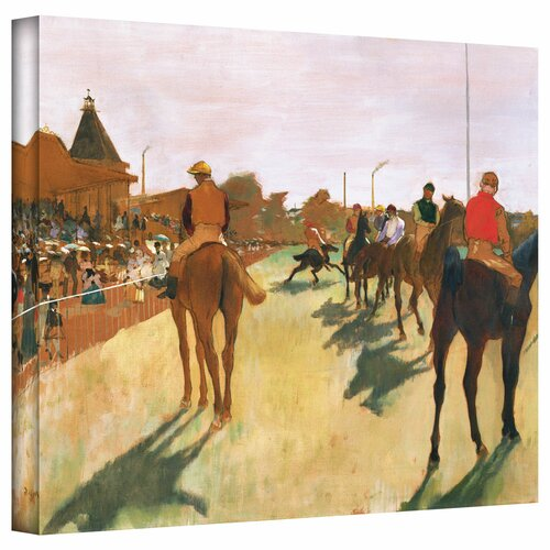 Art Wall 'The Parade, or Race Horses in front of The Stands' by Edgar Degas Gallery-Wrapped on Canvas