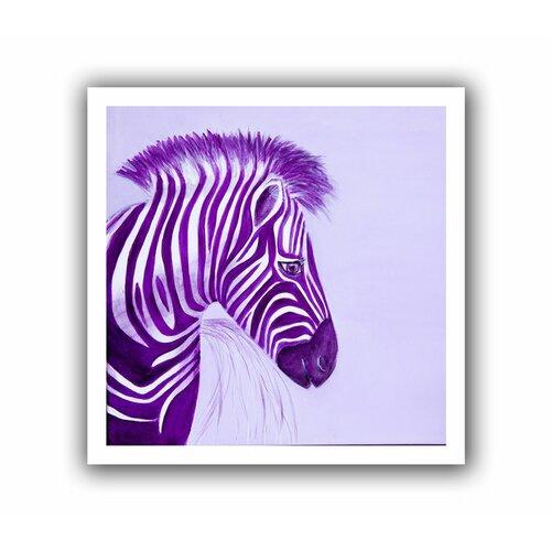 Art Wall 'Zebras Purple' by Lindsey Janich Canvas Poster