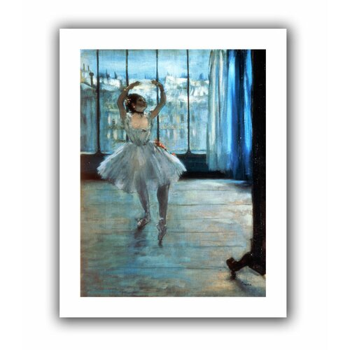 'Dancer in Front of a Window (Dancer at the Photographers Studio)' by Edgar Degas Canvas ...