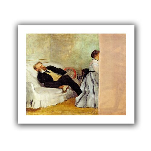 'Monsieur and Madame Edouard Manet' by Edgar Degas Canvas Poster