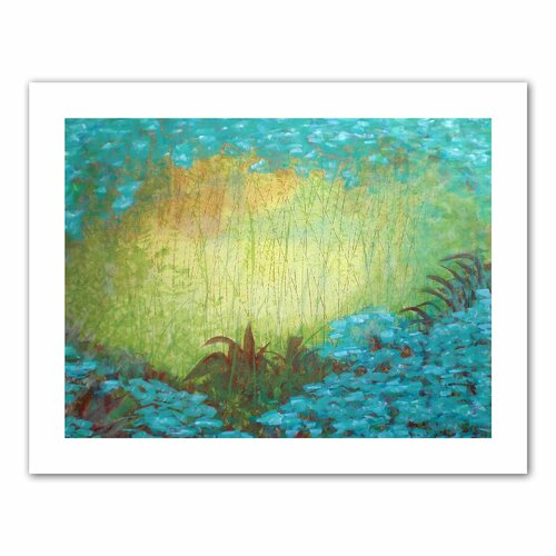 'Morning Light II' by Herb Dickinson Painting Print on Canvas
