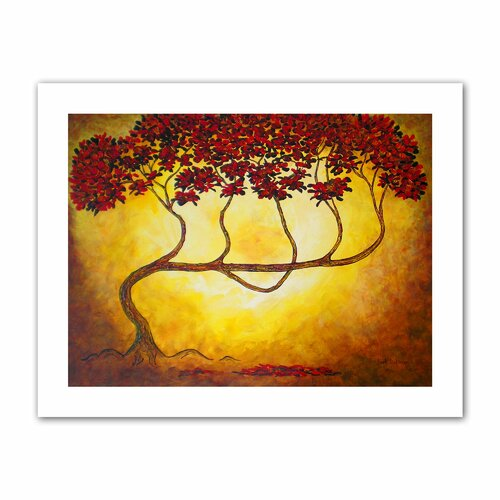 Art Wall 'Ethereal Tree I' by Herb Dickinson Painting Print on Canvas