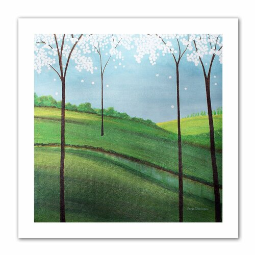 Art Wall 'Whimsy Spring' by Herb Dickinson Original Painting on Canvas