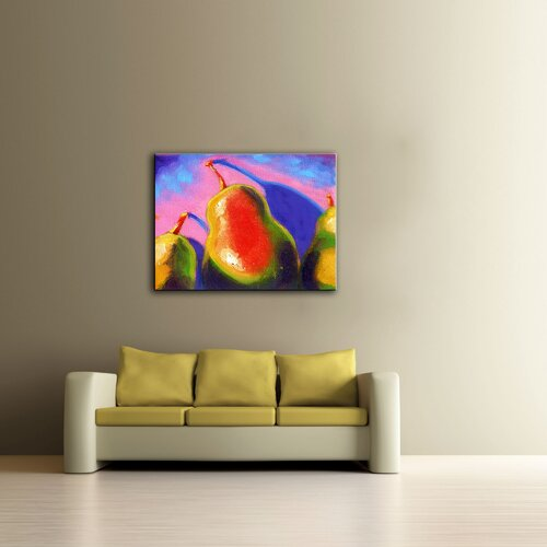 Art Wall 'Pearfect Shadow' by Susi Franco Graphic Art on Canvas