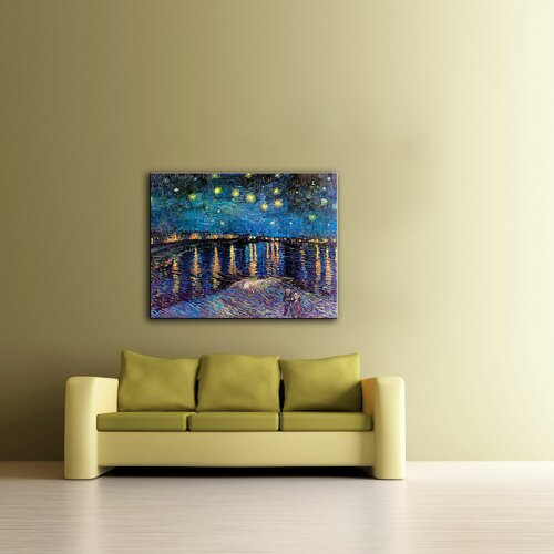 Art Wall ''Starry Night Over The Rhone'' by Vincent Van Gogh Painting Print on Canvas