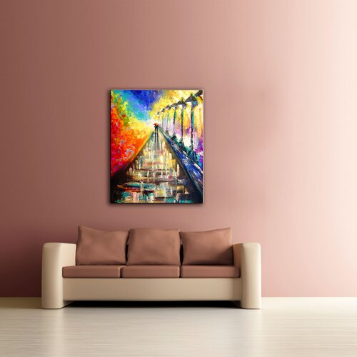 Art Wall 'Paris Sweethearts' by Jan Susi Franco Graphic Art on Canvas