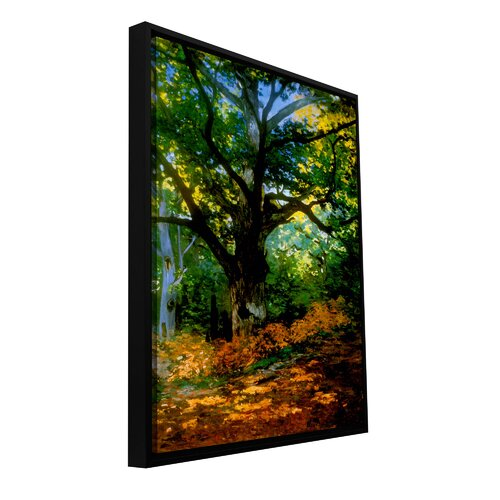 'Bodmer at Oak at Fountainbleau' by Claude Monet Floater Framed Gallery-Wrapped Canvas Art