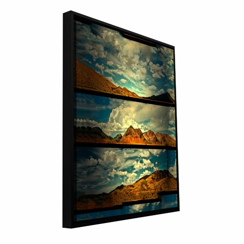 Art Wall 'Saving Skis' by Mark Ross Floater Framed Painting Print Gallery-Wrapped on Canvas