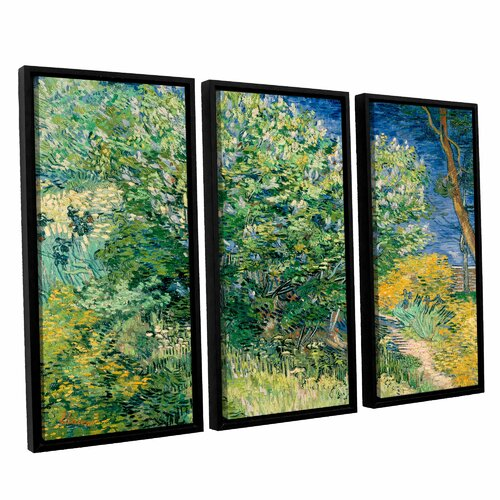 lilacs by vincent van gogh 3 piece floater framed canvas. Black Bedroom Furniture Sets. Home Design Ideas