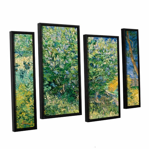 4 Piece Giolla Wall Decor Set : Lilacs by vincent van gogh piece floater framed canvas