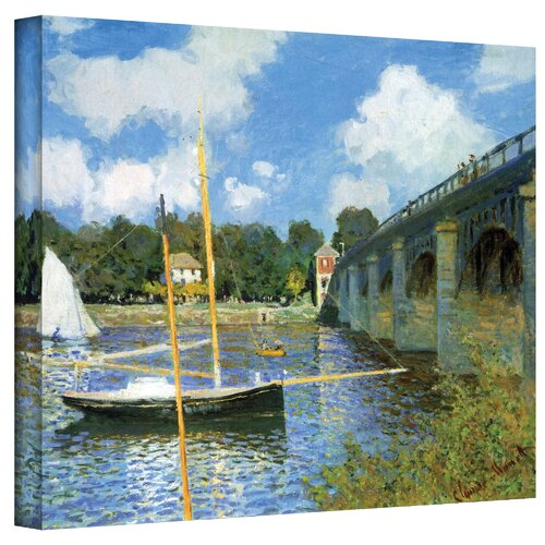 Art Wall ''The Bridge of Argenteuil'' by Claude Monet Painting Print on Canvas
