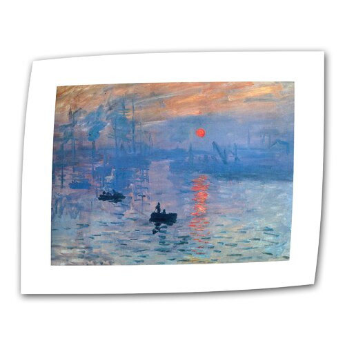 "Art Wall ""Sunrise"" by Claude Monet Painting Print on Canvas"