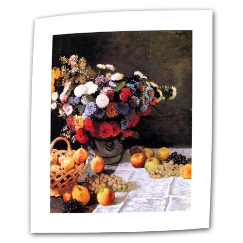 "Art Wall ""Flowers and Fruit"" by Claude Monet Original Painting on Canvas"