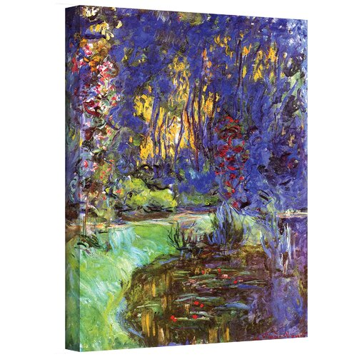 Art Wall ''Giverny'' by Claude Monet Painting Print Canvas