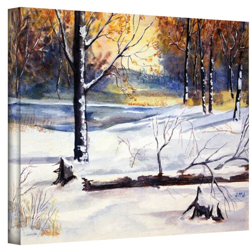 Art Wall ''Winter Woods'' by Dan McDonnell Painting Print on Canvas