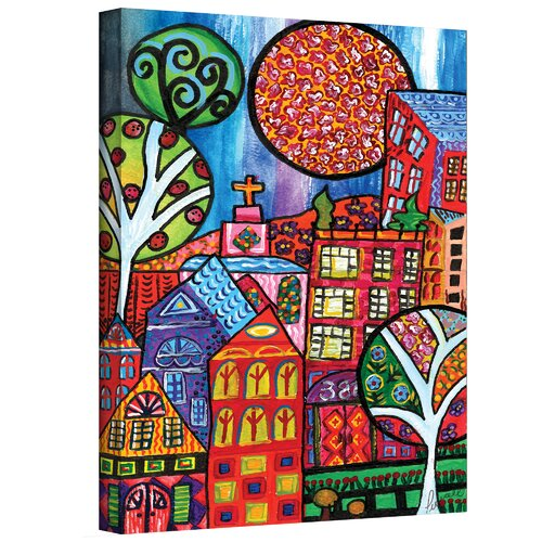 Art Wall ''Downtown'' Painting by Debra Purcell Painting Print on Canvas