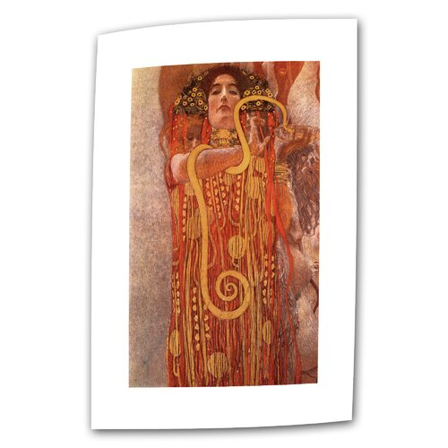 "Art Wall ""Hygieia"" by Gustav Klimt Original Painting on Canvas"