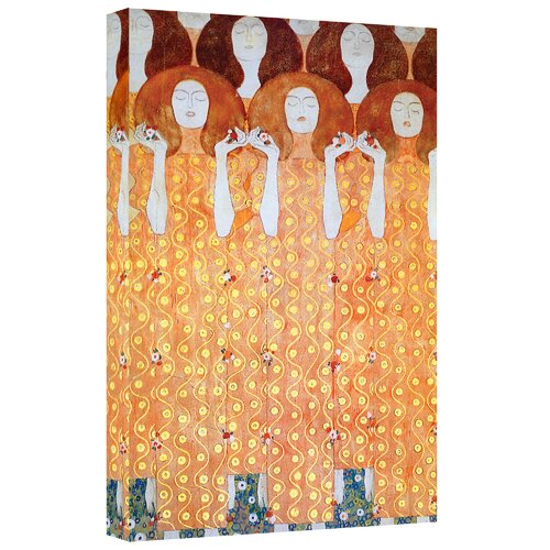 Art Wall ''Angel Brides'' by Gustav Klimt Painting Print on Canvas