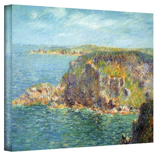Art Wall ''Cap Frehel'' by Gustave Loiseau Painting Print on Canvas