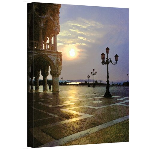 Art Wall ''Venice Piazza 2 France'' by George Zucconi Canvas Painting Print