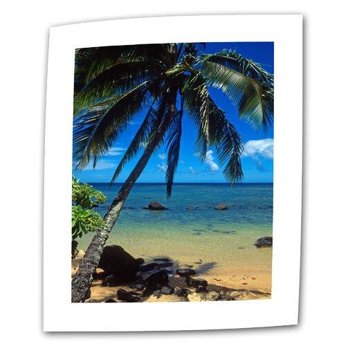 "Art Wall ""Beautiful Animi Beach"" by Kathy Yates Photographic Print on Canvas"