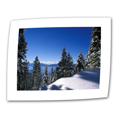 "Art Wall ""Lake Tahoe in Winter"" by Kathy Yates Photographic Print on Canvas"