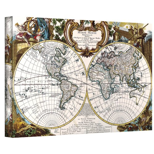 Art Wall Antique ''World Map Circa 1499'' Graphic Art on Canvas