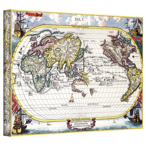 Art Wall Antique ''Navigationes Praecivae Evropaeorvm Antique Map'' Graphic Art on Canvas