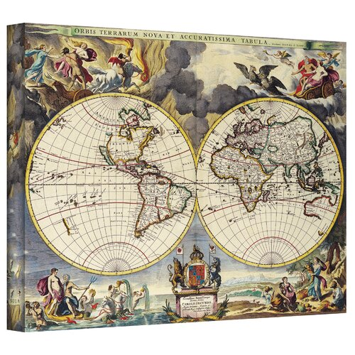 Antique Maps 'Map of the World' by Loanne a Loon Graphic Art Canvas