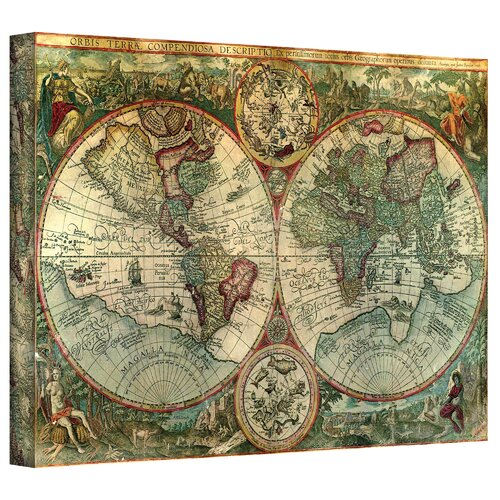 Antique Maps 'Treasure Map' Graphic Art Canvas
