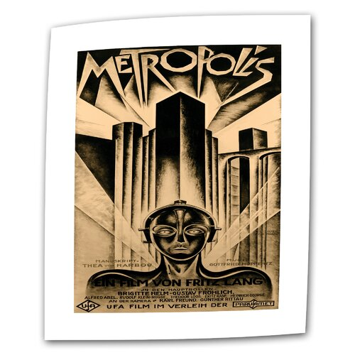"""Art Wall """"Metropolis Movie Poster"""" Painting of Painting on Canvas"""
