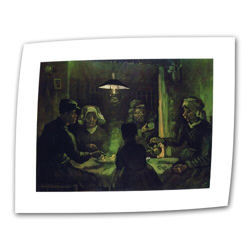 """Art Wall """"The Potato Eaters"""" by Vincent van Gogh Painting Print on Canvas"""