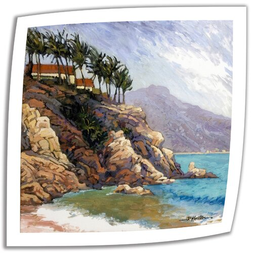 Art Wall 'Cabo San Lucas Coast' by Rick Kersten Painting Print on Canvas