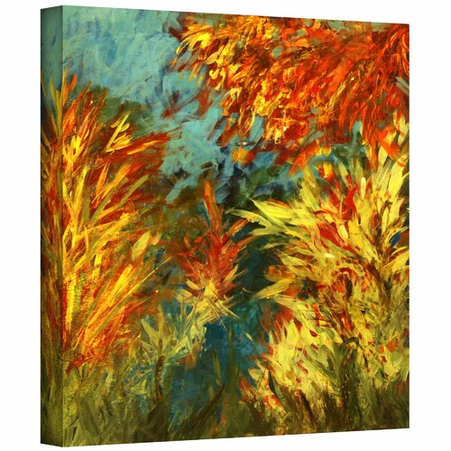 Art Wall 'Quiet Lake I' by Jan Weiss Graphic Art Canvas