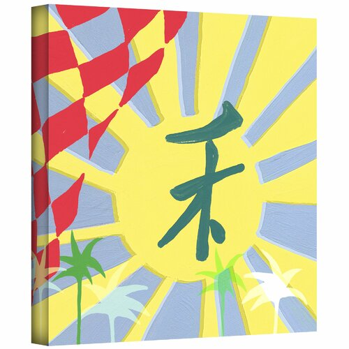 'Rising Sun' by Jan Weiss Graphic Art Canvas