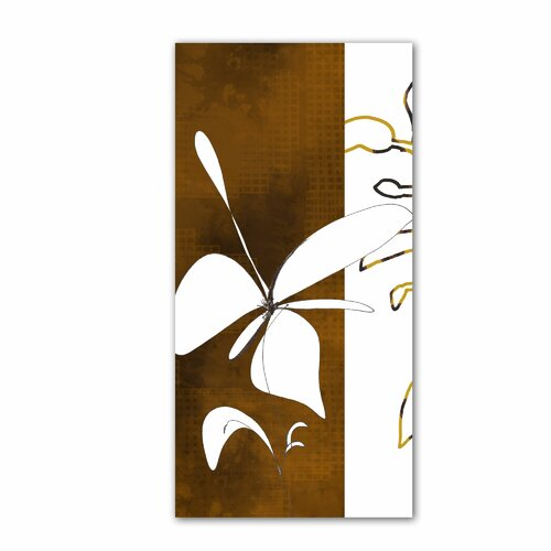 Art Wall 'Espresso Floral I' by Jan Weiss Graphic Art Canvas