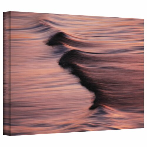 Art Wall 'Waves After Sunset' by David Liam Kyle Photographic Print on Canvas