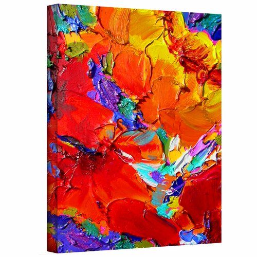 Art Wall 'Charlits Floral' by Susi Franco Painting Print on Canvas