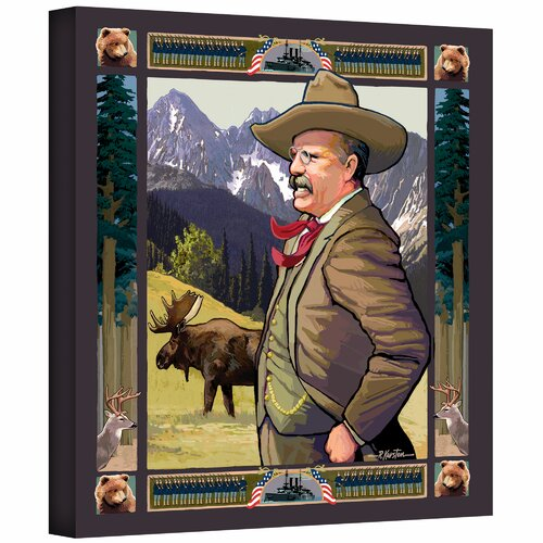 Art Wall 'Teddy Roosevelt' by Rick Kersten Painting Print on Canvas