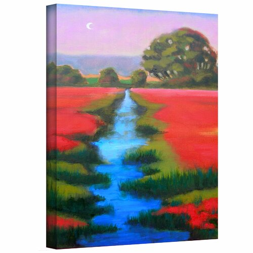 'Provence Moonrise' by Susi Franco Painting Print on Canvas