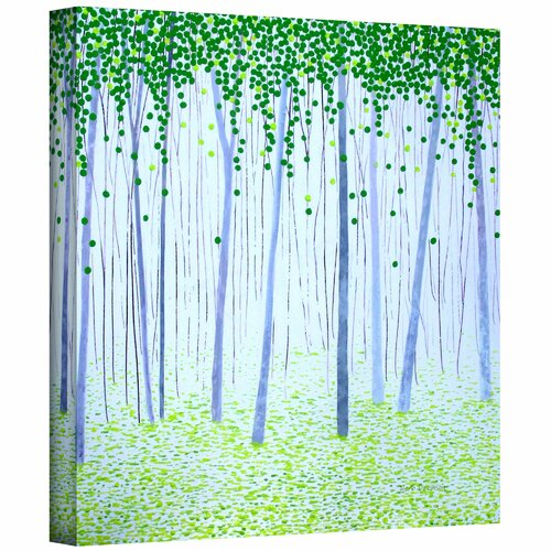 'Misty Woodlands' by Herb Dickinson Original Painting on Canvas