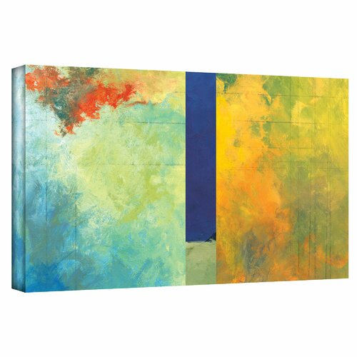 Art Wall 'Textured Earth Panel III' by Jan Weiss Painting Print on Canvas