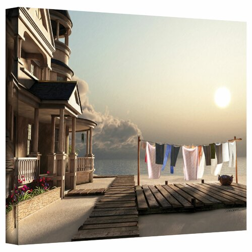 'Laundry Day' by Cynthia Decker Photographic Print on Canvas