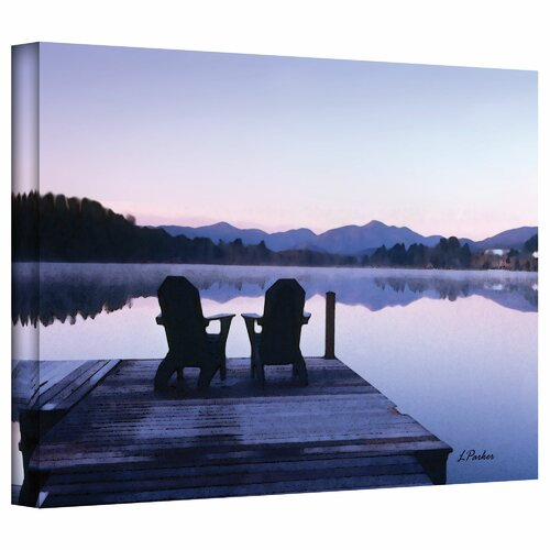 'Mirror Lake, Lake Placid' by Linda Parker Photographic Print Canvas