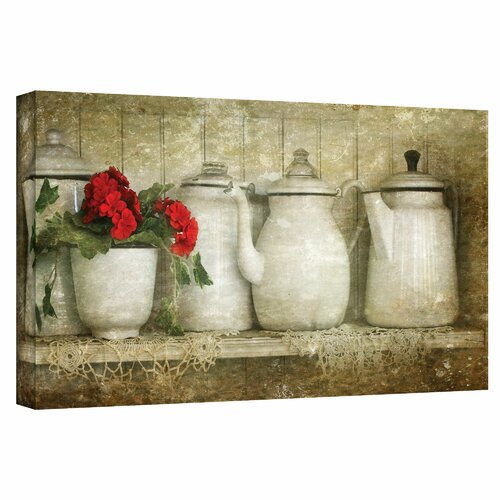 Art Wall 'Flower with Pots' by David Liam Kyle Graphic Art Canvas