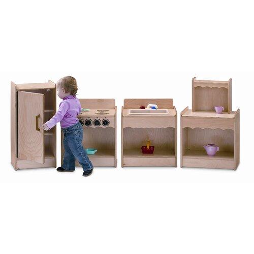 Jonti-Craft 4 Piece Contempo Wood Kitchen Set